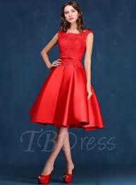 tbdress a line scoop neck lace knee length prom dress tbdress