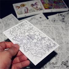 secret garden colouring book postcards aliexpress buy 32 sheets coloring postcard tintage postcards