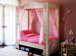 Pink Canopy Bed The Cute Canopy Beds For Girls