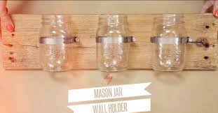 Home Decorating Craft Projects Diy Mason Jar Wall Organizer Diy Joy