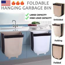 kitchen wall cabinet load capacity trash cans wastebaskets home garden 8l wall mounted