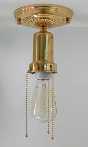 solid brass reion war era beaded chain light fixture