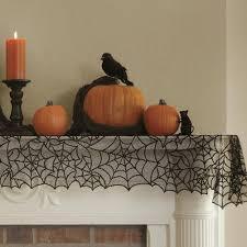 halloween spider web bat lace door window tablecloth covers cobweb