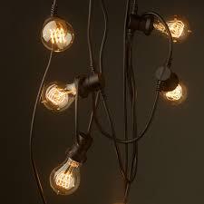 led edison string lights commercial led edison string lights 100 foot black wire edison