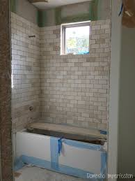Installing Shower Tile Grout Mistakes And Installed Bathroom Tile Domestic Imperfection