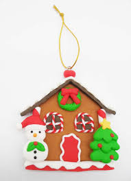 cute small christmas house snowman with christmas tree ornament