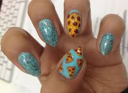 oh me oh my pizza party nails