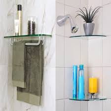 Shelving For Bathrooms Floating Glass Shelves Glass Corner Shelves