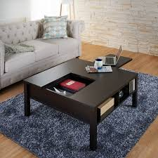 pull out coffee table furniture of america lettani cappuccino slide out coffee table