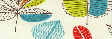 Blue And Lime Green Curtains Patterned Kitchen Curtains Trends Funky Leaves Patterned Orange