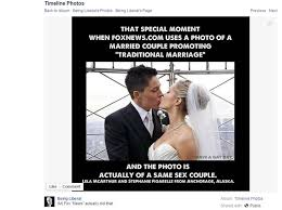 How To Post A Meme On Facebook - facebook meme fox news topped opposite sex marriage article with