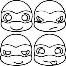 cute ninja turtle head coloring page cartoons variety