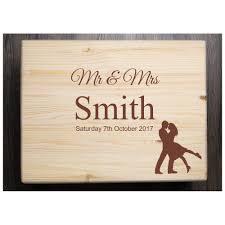 personalised wedding gifts personalised wedding box bespoke laser engraving personalised
