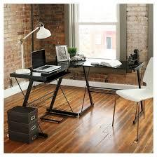 home office l shaped corner computer desk black saracina