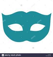 Soft Blue Color Privacy Mask Flat Soft Blue Color Icon Stock Photo Royalty Free