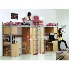 lit superposé avec bureau étudiant dortoir lit superposé avec bureaux métal lit