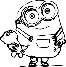 Incridible Minion Coloring Pages In Minion Color Pages On With Hd Color Pages