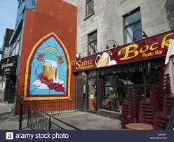 mural on a restaurant stock photos mural on a restaurant stock colorful mural of a beer mug on a wall in montreal canada le saint bock