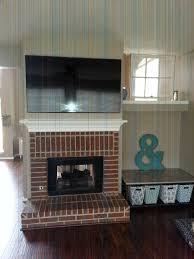 home decor fresh stone over brick fireplace home design popular