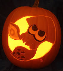 inkling squid pumpkin light version by johwee on deviantart