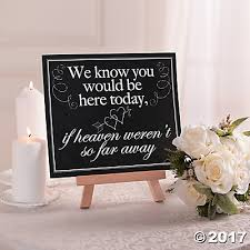 wedding memorial sign wedding sign