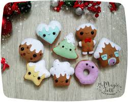 christmas ornaments felt gingerbread man ornaments felt