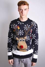 mens novelty rudolph christmas jumper