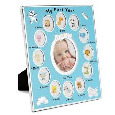 my year baby photo picture collage frame 12 months birth