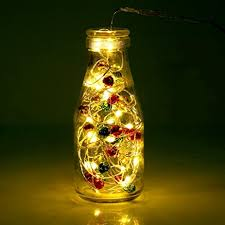 bell lights bottle string lights home