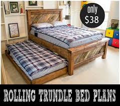 diy rolling trundle bed plans diy furniture plans free
