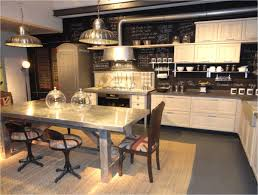 Industrial Kitchen Ideas Industrial Accents Soften Modern Classic Country Cabinets