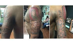 ohio state u0027s ezekiel elliott got a buckeyes championship tattoo