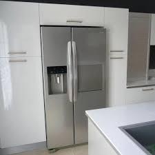 cuisine frigo americain cuisine avec frigo americain integre estein design