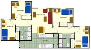 4 bedroom apartment floor plans utpb 4 bedroom apartment
