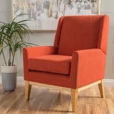 Orange Armchair Modern U0026 Contemporary Orange Accent Chairs You U0027ll Love Wayfair