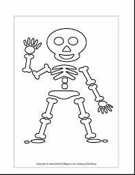 fabulous skeleton coloring page with skeleton coloring pages
