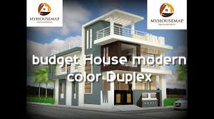gray budget house modern color duplex elevation design