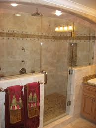 Bathroom Shower Remodeling Country Bathroom Walk In Shower Chrome Wall Mounted