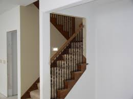 fresh finishing old basement stairs 4508