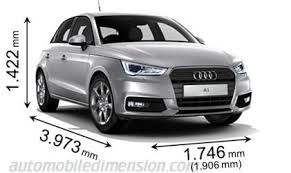 audi size dimensions of audi cars showing length width and height