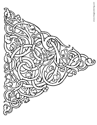 triangle ivy knot a free vintage coloring page