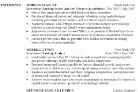 Sample Investment Banking Resume by Banking Authority Under The Guidance Of The Quickly Recover And