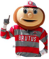 Brutus Buckeye Halloween Costume Quality Ohio University Brutus Buckeye Head Mascot