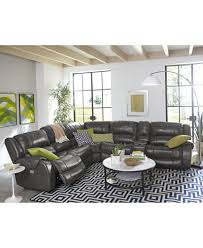 rinworth leather power reclining sectional sofa collection with