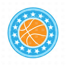basketball emblem with ball free vector clipart image 470 u2013 rfclipart
