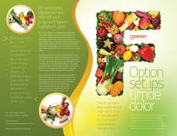nutrition brochure template food brochure template design and layout now 05225