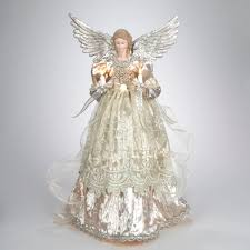 tree toppers for christmas trees 16 lighted gold and platinum angel christmas tree topper clear