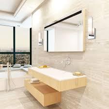 new bathroom lighting ideas grey glass tiles mosaic wall design