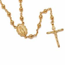 rosary necklaces rm rosary necklace in bronze with 14k gold plate 26