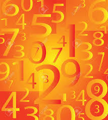 Orange Color by Very Nice Moder Number Background With Orange Color Stock Photo